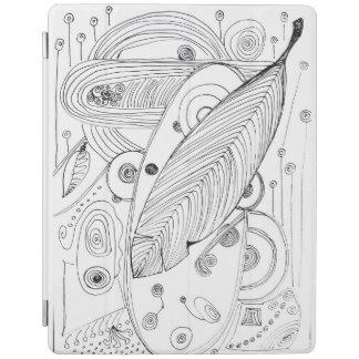 Original b/w doodles iPad smart cover