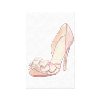 Original Badgley Mischka Shoe Illustration Canvas Print