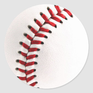 Original baseball ball classic round sticker
