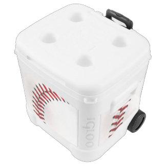 Original baseball ball igloo roller cooler