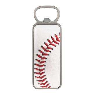 Original baseball ball magnetic bottle opener