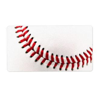 Original baseball ball label