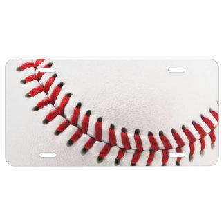 Original baseball ball license plate