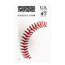 sports, baseball, funny, cool, softball, ball, photography, stamp, popular, sport, fun, baseball ball, postage, Selo postal com design gráfico personalizado