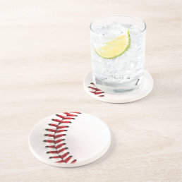Original baseball ball sandstone coaster