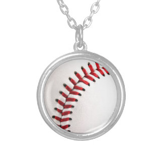 Original baseball ball silver plated necklace