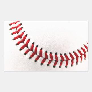 Original baseball ball rectangle sticker