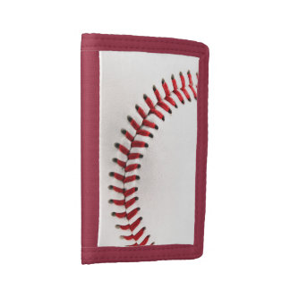 Original baseball ball tri-fold wallets