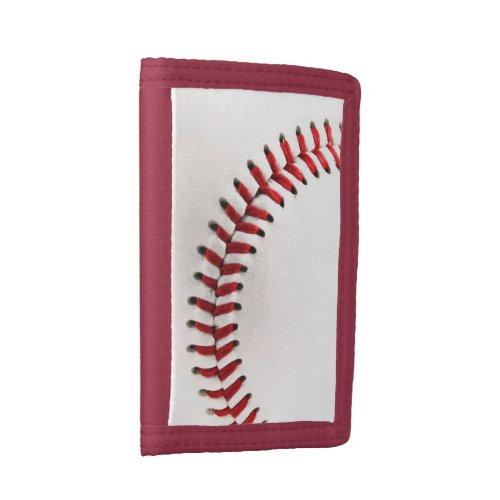 Original baseball ball trifold wallet