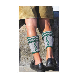 Original Bavarian with leather trousers and Canvas Print