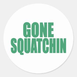 Original & Best-Selling Bobo GONE SQUATCHIN Green Classic Round Sticker