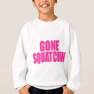Original & Best-Selling Bobo's GONE SQUATCHIN Pink Sweatshirt