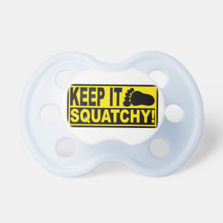 Original & Best-Selling Bobo's KEEP IT SQUATCHY! Baby Pacifiers