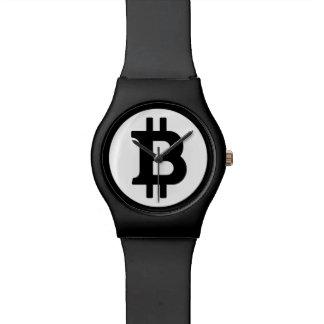 Original Bitcoin Logo Symbol All Black Wrist Watch