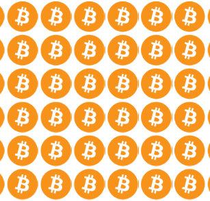 Original Bitcoin Logo Symbol Crypto Wrapping Paper
