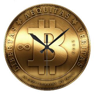 Original Bitcoin Logo Symbol Large Wall Clock
