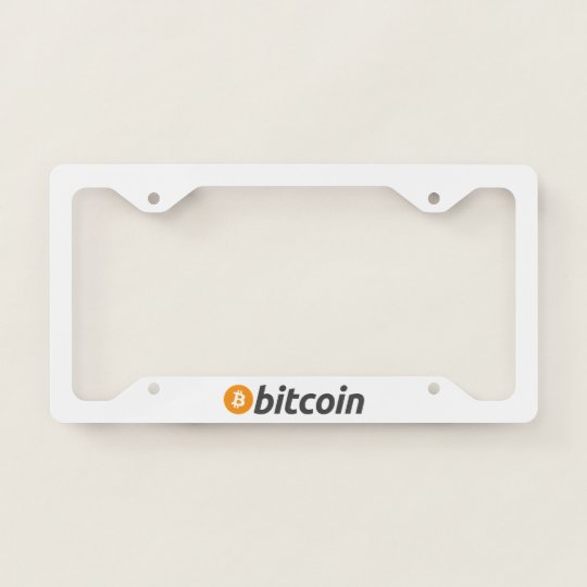 Original Bitcoin Logo Symbol License Plate Frame | Zazzle.com