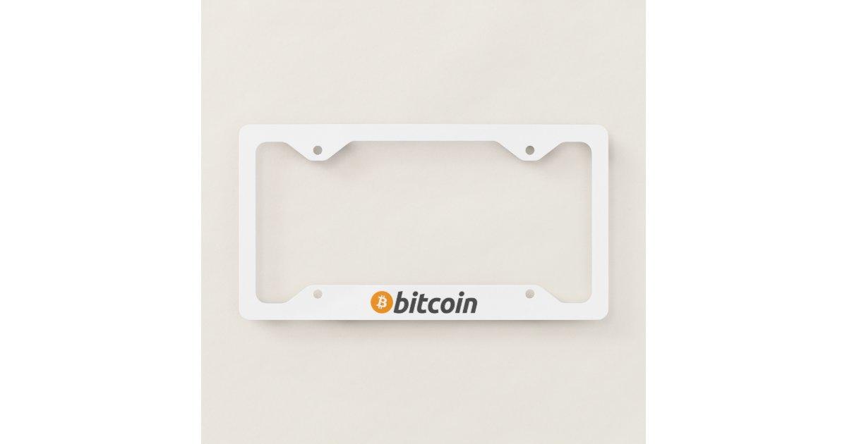 Original Bitcoin Logo Symbol License Plate Frame   Zazzle.com