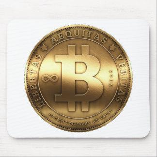 Original Bitcoin Symbol Gold Logo Mouse Pad