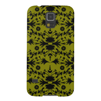 Original Black on Gold Olive Green Pattern Galaxy S5 Case