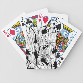 Original Black Splatter Bicycle Playing Cards