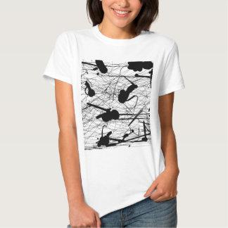 Original Black Splatter Painting T-shirt