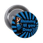 Original Blue and Black Belly Dancer 2 Inch Round Button