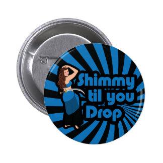 Original Blue and Black Belly Dancer Pinback Button