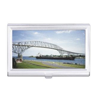 Original Bluewater Bridge Port Huron Michigan Business Card Holder