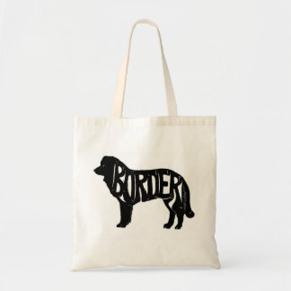 Original Border Collie Tote~Silhouette Tote Bag