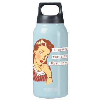 Original Breastfeed For a Living Retro Mom Humor Insulated Water Bottle