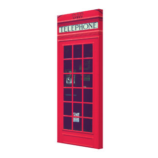 Original british phone box canvas print