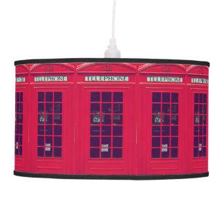 Original british phone box hanging lamp