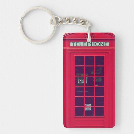 Original british phone box keychain