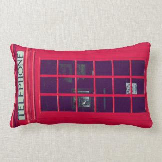 Original british phone box lumbar pillow