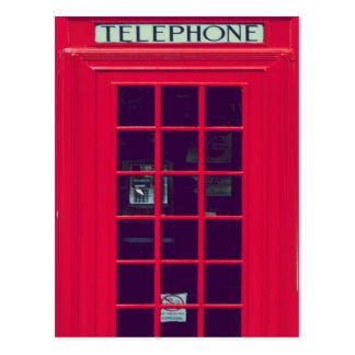 Original british phone box postcard