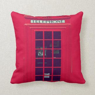 Original british phone box throw pillow