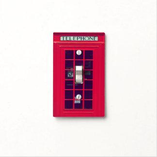 Original british red phone box light switch cover
