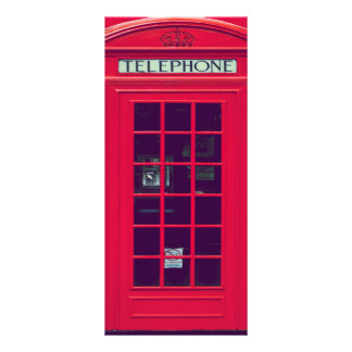 Original british red phone box rack card