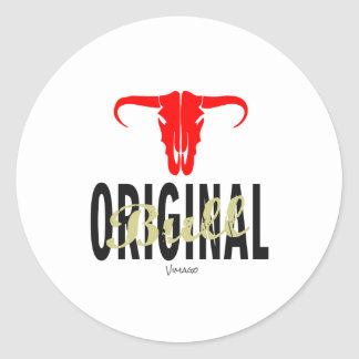 Original Bull by VIMAGO Classic Round Sticker