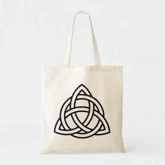 Original Celtic Triquetra Knot black icon Tote Bag