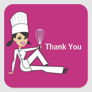 Original Chef with Whisk Thank You Stickers