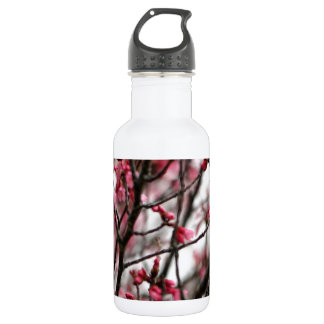 Original Cherry Blossoms Macro Photo Water Bottle