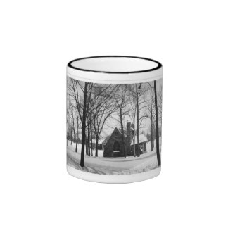 Original Christ Church Panorama Ringer Coffee Mug