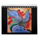 Original Colorful Abstract Art 2018 Small Calendar