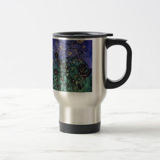 Original colorful abstract painting mugs