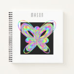 Original colorful butterfly notebook