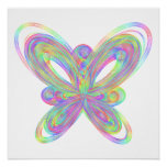 Original colorful butterfly poster