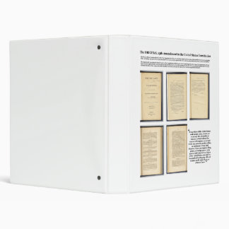 ORIGINAL Constitution Amendment XIII Evidence Binder