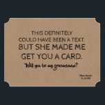 """Original Creative and Funny GROOMSMAN Invitation<br><div class=""""desc"""">Funny proposal card """"THIS definitely could have been a text. But she made me get you a card. Will you be MY GROOMSMAN?""""</div>"""